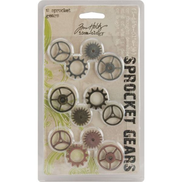 "Idea-Ology Sprocket Metal Gears .75"" To 1"" 12/Pkg"