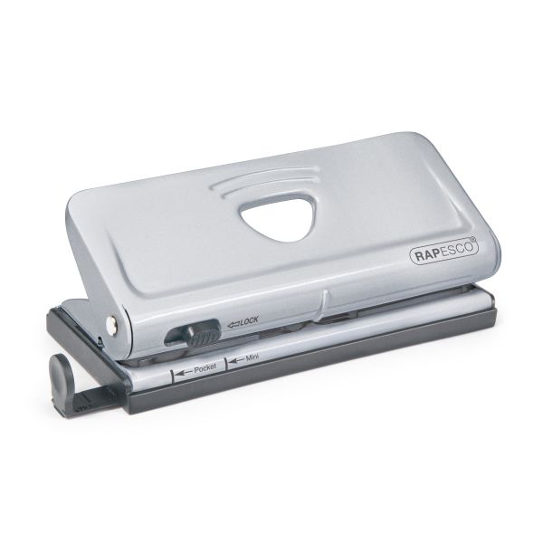 Rapesco Adjustable 6-Hole Organizer/Diary Punch (Silver)
