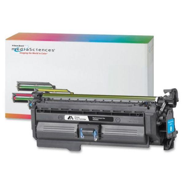Media Sciences Remanufactured HP CE261A Cyan Toner Cartridge