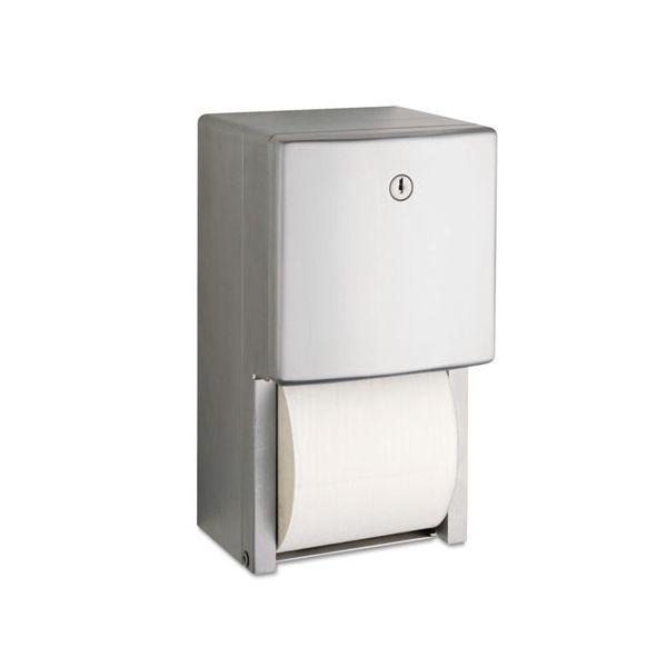"Bobrick ConturaSeries Two-Roll Tissue Dispenser, 6 1/16"" x 5 15/16"" x 11"""
