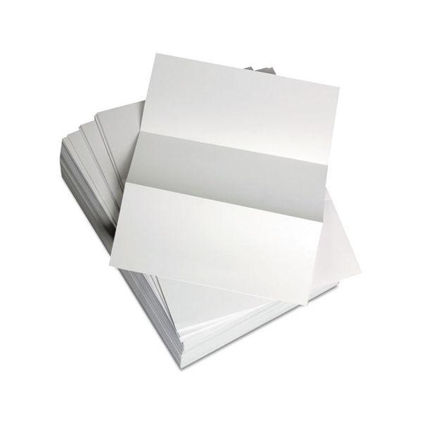 "Domtar Custom Cut-Sheet Copy Paper, 92 Brightness, 20 lb, 8 1/2 x 11, White, Perfed 3 2/3"", 500 Sheets/Ream"