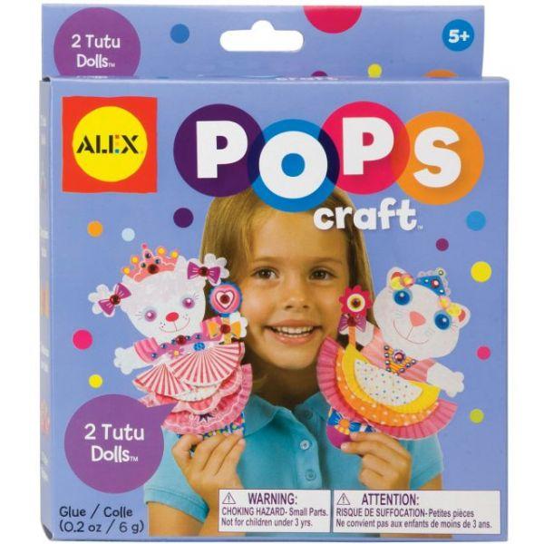 ALEX Toys Pops Craft 2 Tutu Dolls Kit