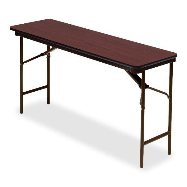 Iceberg Premium Wood Laminate Rectangular Folding Table