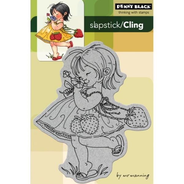 "Penny Black Cling Rubber Stamp 4""X6"" Sheet"