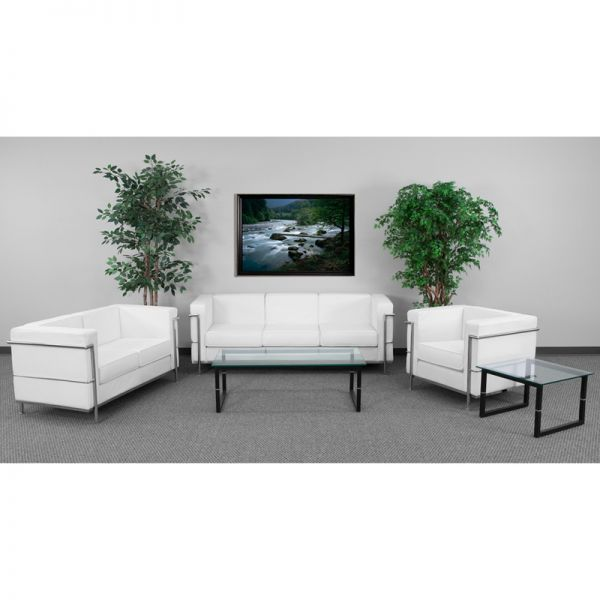 Flash Furniture HERCULES Regal Series Reception Set in White