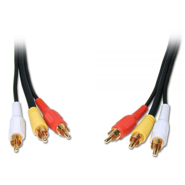 Comprehensive Standard 3RCA-3RCA-6ST Audio/Video Cable