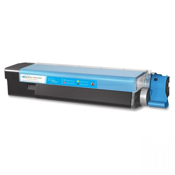 Media Sciences 40034 Remanufactured 43865719 Toner, Cyan