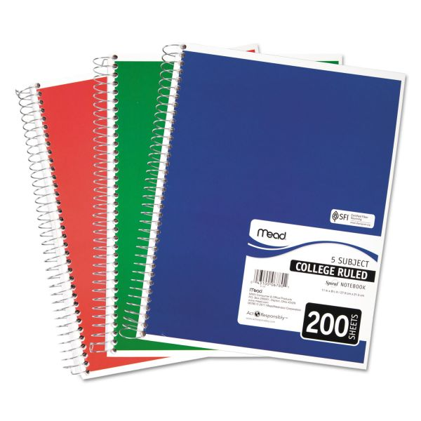 Mead Perforated 5-Subject Notebook