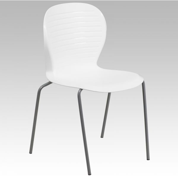 Flash Furniture HERCULES Series 551 lb. Capacity White Stack Chair