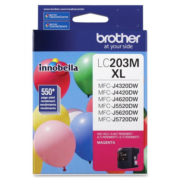 Brother Innobella High-Yield LC203M XL Magenta Ink Cartridge