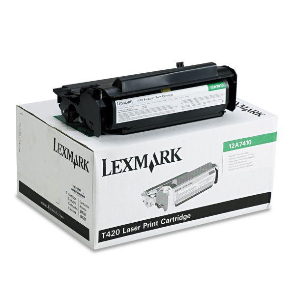 Lexmark 12A7410 Black Return Program Toner Cartridge
