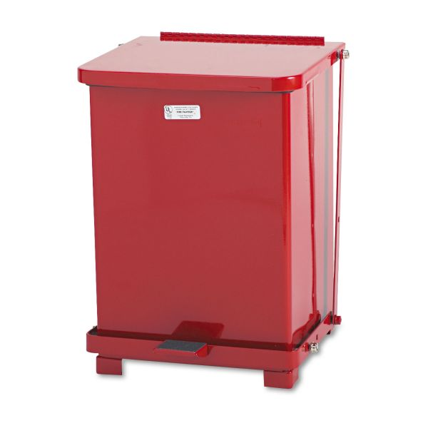 Rubbermaid The Defenders 7 Gallon Step Trash Can With Lid