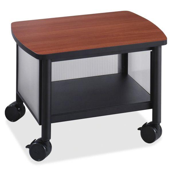Safco Impromptu Under Table Printer Stand, 20-1/2w x 16-1/2d x 14-1/2h, Black/Cherry