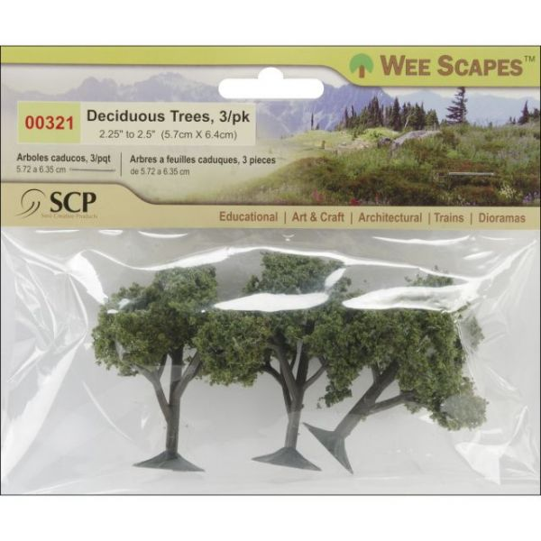 "Deciduous Trees 2.25"" To 2.5"" 3/Pkg"