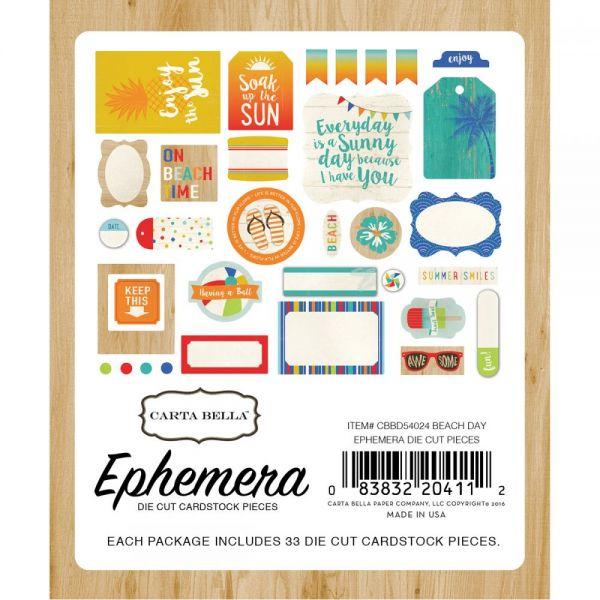 Beach Day Ephemera Cardstock Die-Cuts