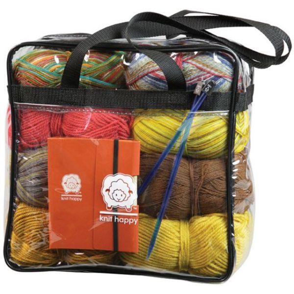 "Knit Happy Tote 12""X12""X6"""