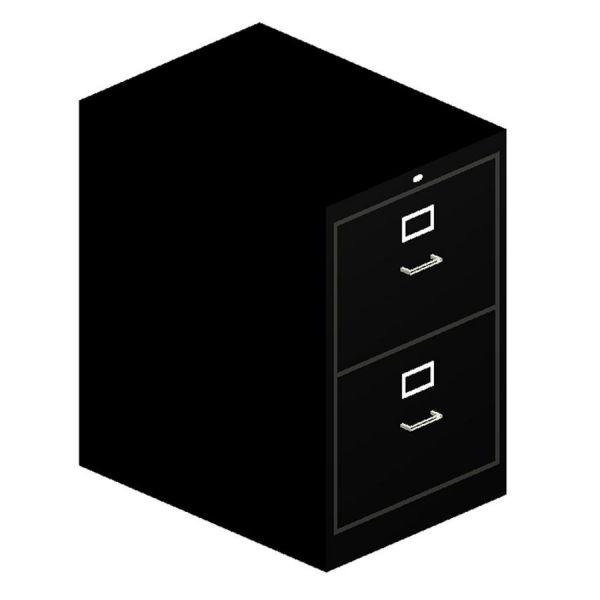 HON 510 Series 2 Drawer Locking Vertical File Cabinet