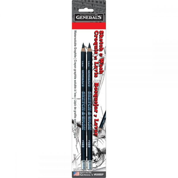 Sketch & Wash Pencils 2/Pkg