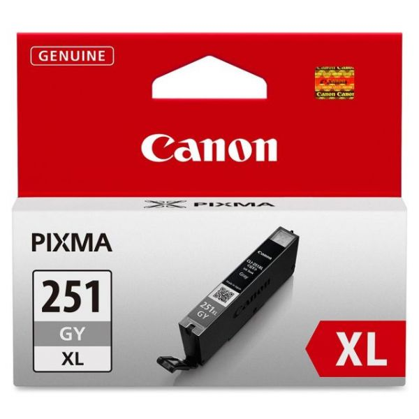 Canon CLI-251XLGY Gray High Yield Ink Cartridge (6452B001)