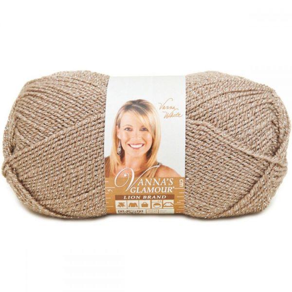 Lion Brand Vanna's Glamour Yarn - Moonstone