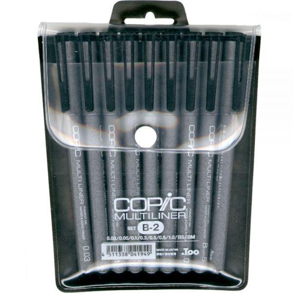 Copic Multiliner Black Ink Pens 9/Pkg