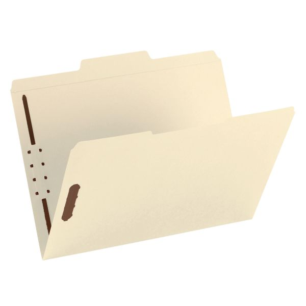 Smead Manila Reinforced Top-Tab File Folders With Fasteners