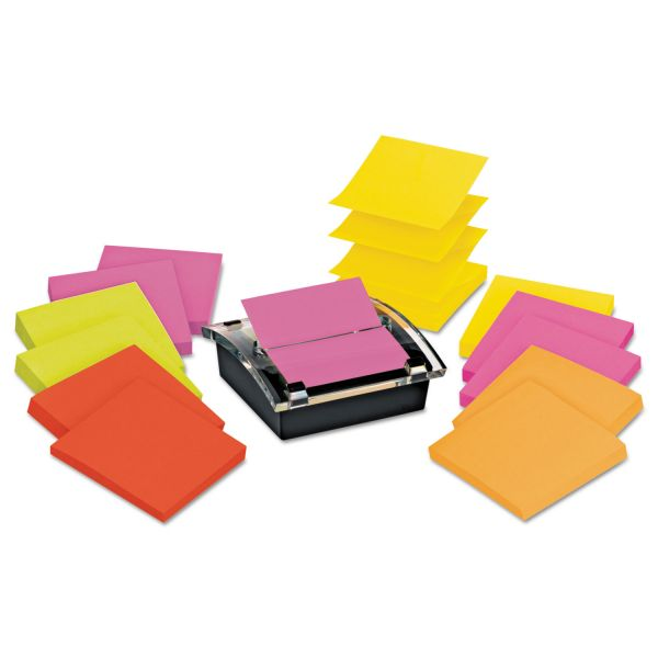 Post-it Super Sticky Pop-up Notes Dispenser with Post-it Notes in Assorted Bright Colors