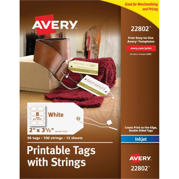 Avery Printable Marking Tags w/String