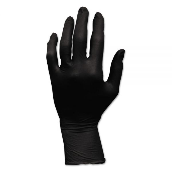 Hospital Specialty Co. ProWorks Blacknite Nitrile Gloves, Powder-Free, Large, Black, 100/Carton