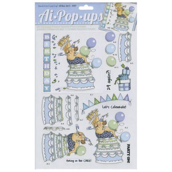 """Art Impressions Pop-Ups 4 Sheets W/2 Designs 8.25""""X11.75"""""""