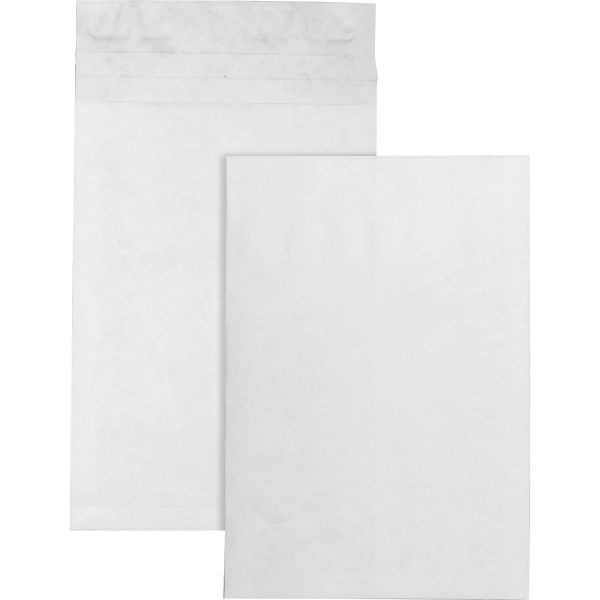 Survivor Tyvek Expansion Mailer, 12 x 16 x 2, White, 18lb, 100/Carton