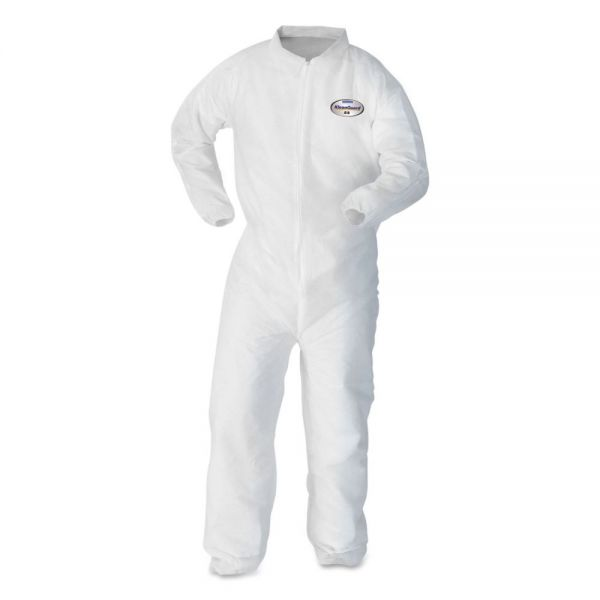 KleenGuard* A20 Breathable Particle Protection Coveralls, Medium, White, 24/Carton