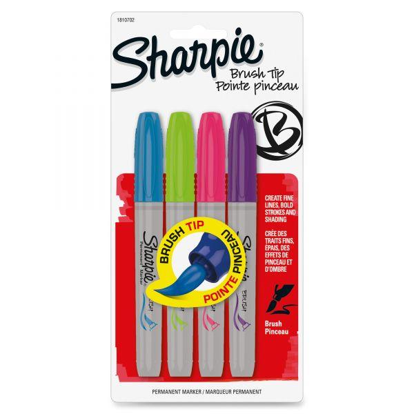Sharpie Brush Tip Permanent Markers