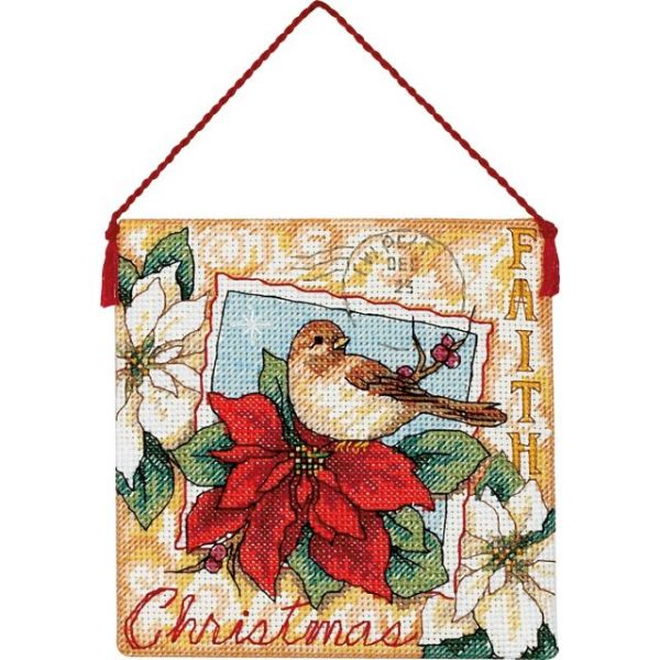 Gold Petite Faith Ornament Counted Cross Stitch Kit