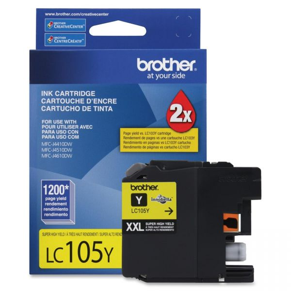 Brother LC105Y Yellow Super High Yield Ink Cartridge