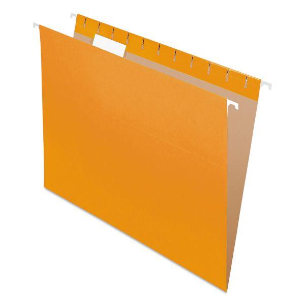 Pendaflex Colored Hanging Folders, 1/5 Tab, Letter, Orange, 25/Box