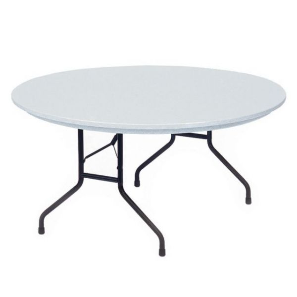 Correll Blow-Molded Tamper Resistant Round Folding Table