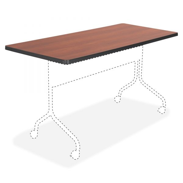 Safco Impromptu Series Mobile Training Table Top, Rectangular, 48w x 24d, Cherry