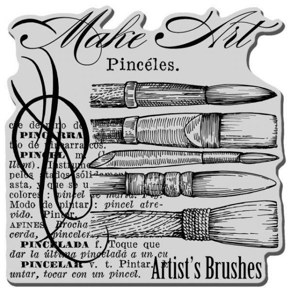 """Stampendous Cling Rubber Stamp 5.5""""X4.5"""" Sheet"""