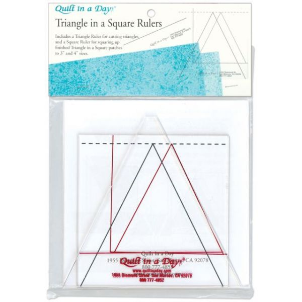 Quilt In A Day Triangle In A Square Ruler Set