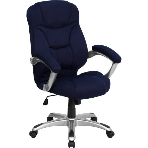 Flash Furniture High Back Executive Swivel Office Chair [GO-725-NVY-GG]