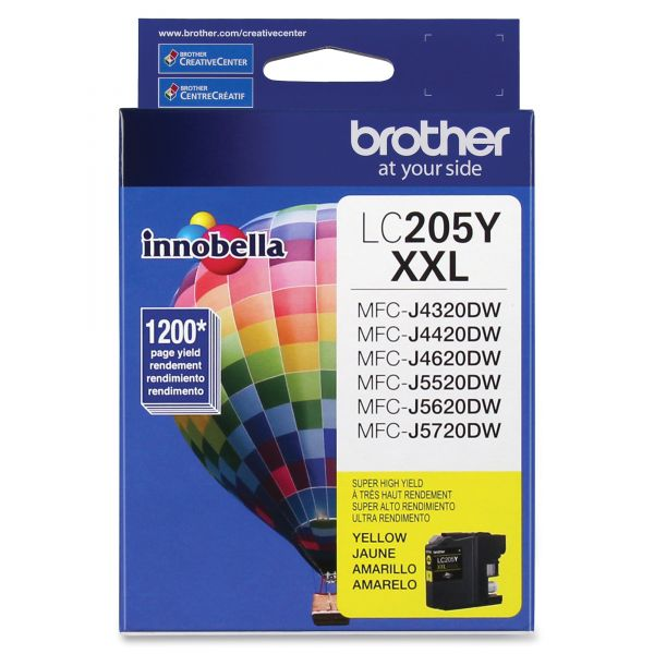 Brother Innobella LC205Y Super High Yield Yellow Ink Cartridge