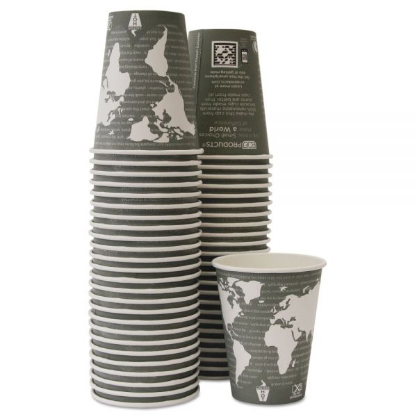 Eco-Products World Art Renewable/Compostable 12 oz Coffee Cups