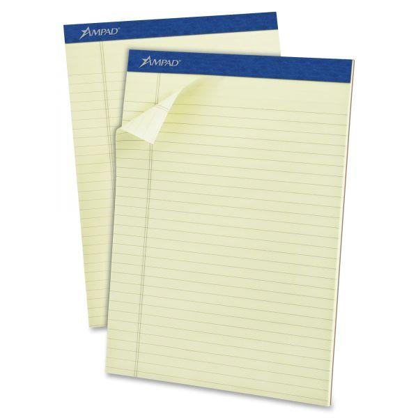 Ampad Pastel Pads, 8 1/2 x 11 3/4, Green Tint, 50 Sheets, Dozen