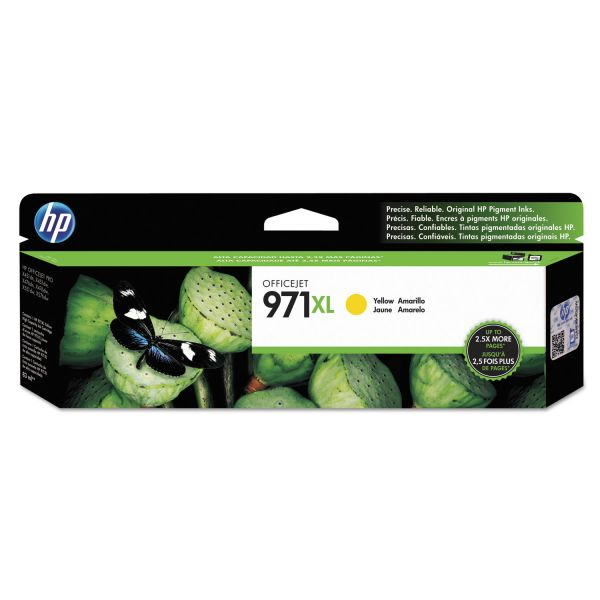 HP 971XL High-Yield Yellow Ink Cartridge (CN628AM)