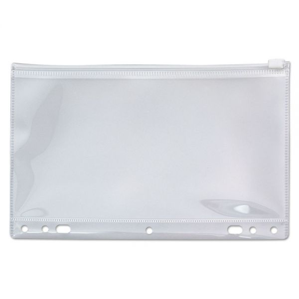 Angler's Zip-All Ring Binder Pocket, 6 x 9 1/2, Clear