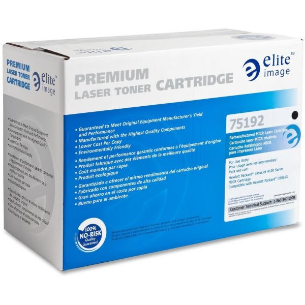 Elite Image Remanufactured HP 61X (C8061X) MICR Toner Cartridge
