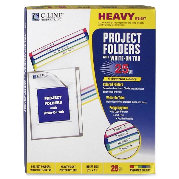 C-Line Write-on Project Folders