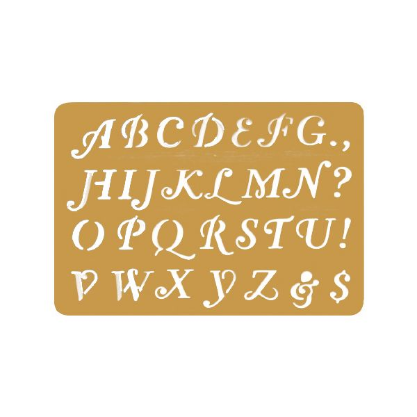 "Brass Embossing Stencil 3.25""X2.25"""