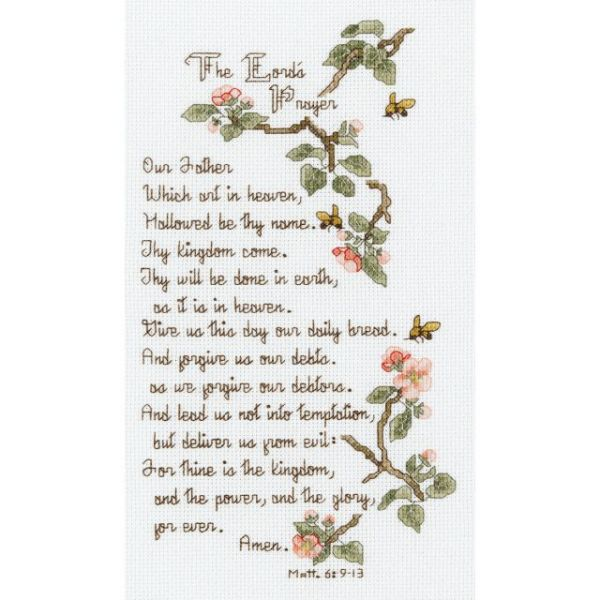 The Lord's Prayer Counted Cross Stitch Kit